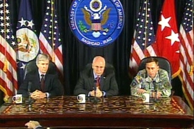 Vice President Briefing in Iraq