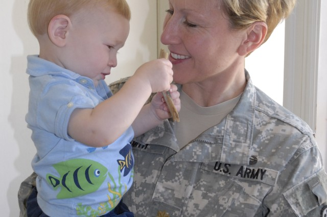 Fort Jackson Soldier Loves Being a Mom, Military Spouse