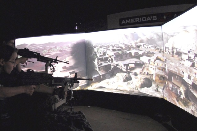 Military Displays Equipment, Technology at Public Service Recognition Exhibit