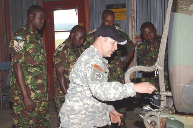 Third Army Gives Kenyan Soldiers Tour of Specialty Schools