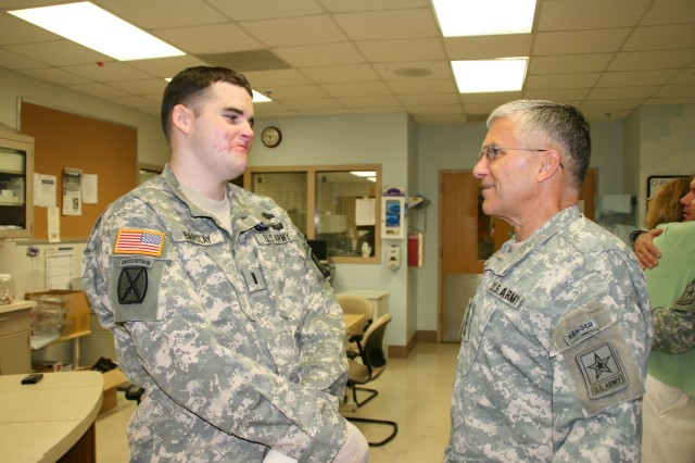 Army Chief of Staff Boosts Spirits at BAMC