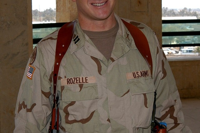 Maj. David Rozelle is shown here as a captain in command of Headquarters and Headquarters Troop, 3rd Armored Cavalry Regiment. Maj. Rozelle returned to Iraq after losing his lower right foot during the first phase of Operation Iraq Freedom. He is now administrator for the Amputee Care Center at Walter Reed Army Medical Center in Washington, D.C.