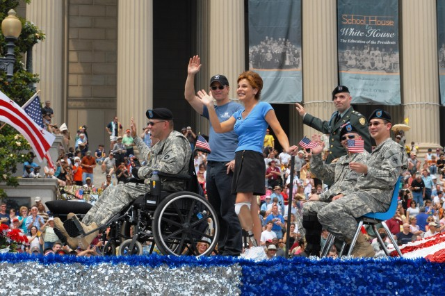 National Memorial Day Parade Honors Wounded Warriors