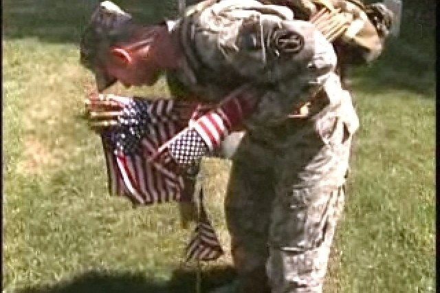 Soldiers placed flags at ANC in honor of Memorial Day.