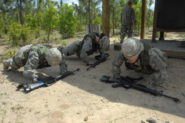 Representatives from marketing companies that promote the Army quickly learn that drill sergeants have innovative forms of corrective training for Soldiers who fail to meet standards.