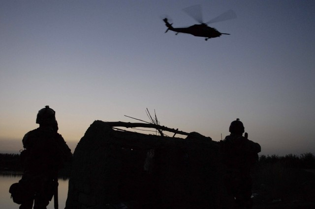 Iraqi special operations and coalition forces patrol Baghdad, May 21.