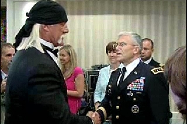 General Casey and Hulk Hogan