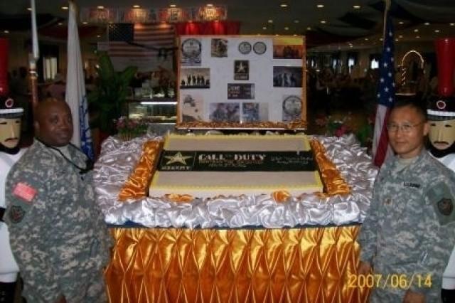 Army Birthday Cake in Baghdad