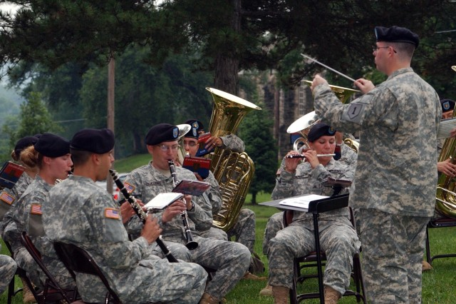 Fort Riley's 1st Infantry Division Band performs during the Army's birthday ceremony June 14.
