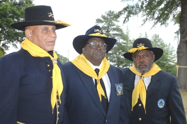 John Nichols, Jim Lagrand and Lee Dugger represented the 1st Virginia Chapter of the Buffalo Soldiers at the 232nd U.S. Army Birthday Celebration on Fort Lee. June 14.