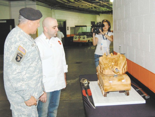 """Food Network's """"Ace of Cakes"""" Visits APG, Designs Army Birthday Cake"""