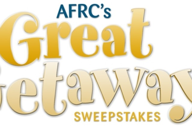 """Authorized Morale, Welfare and Recreation patrons have a chance to win an all-inclusive """"Great Getaways"""" vacation package for two at any of the four Armed Forces Recreation Centers."""