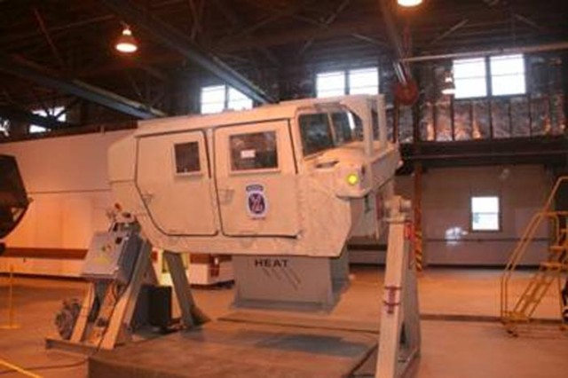 The Humvee Egress Assistance Trainer at the Yakima Training Center in Yakima, Wash.