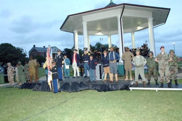 TRADOC Soldiers present Army Birthday steamer ceremony