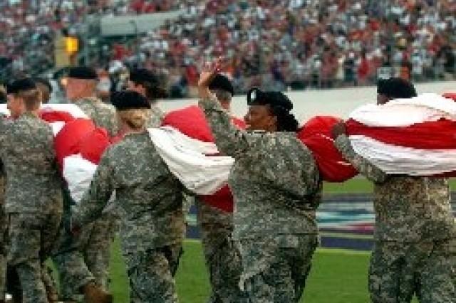 Soldiers Participate In NASCAR'S Pepsi 400