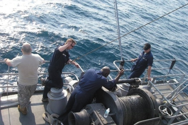 Soldiers of the 97th Transportation Company from Fort Eustis, Va., recently returned from a more unconventional mission - recovering thousands of tires from off the Florida coast in an effort to dismantle the world's largest man-made reef. The mission is a historic effort in environmental preservation.