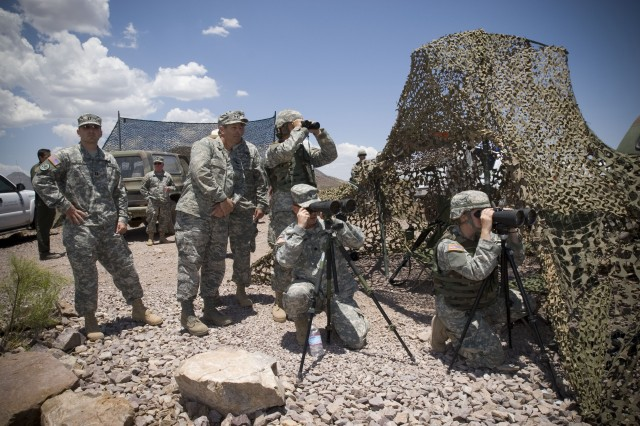Soldiers look for anyone entering the United States illegally.