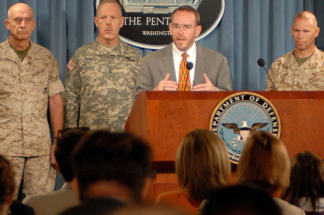 MRAP Vehicle Pentagon Briefing