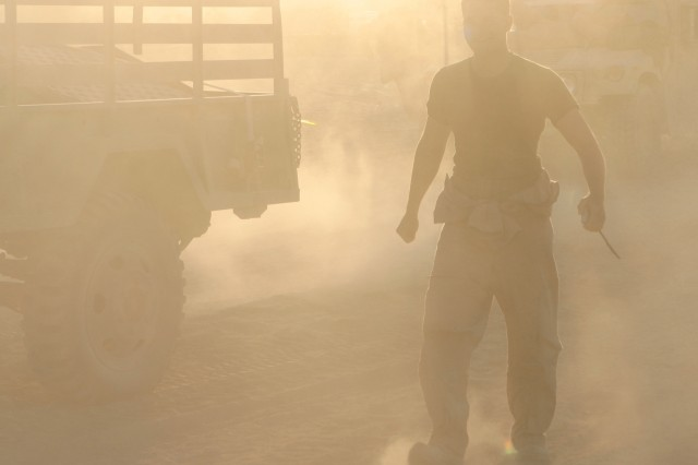 A sandstorm blankets central Iraq.