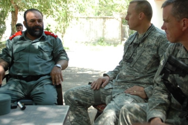 Capt. Timothy Patterson, an embedded trainer in Afghanistan.