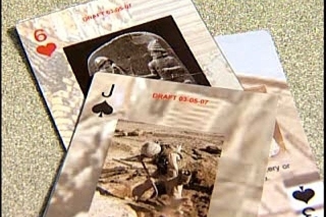 Soldiers use playing cards to learn about culture before deploying.