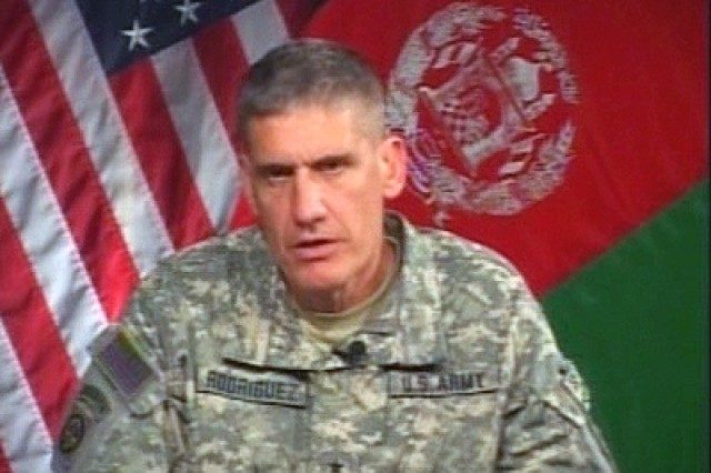 Maj. Gen. Rodriguez provides an update on Afghanistan.