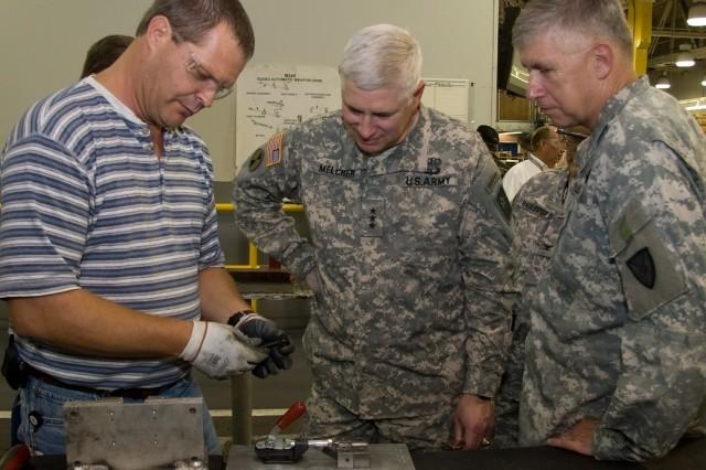 AMC commanding general visits depot, tenant activities