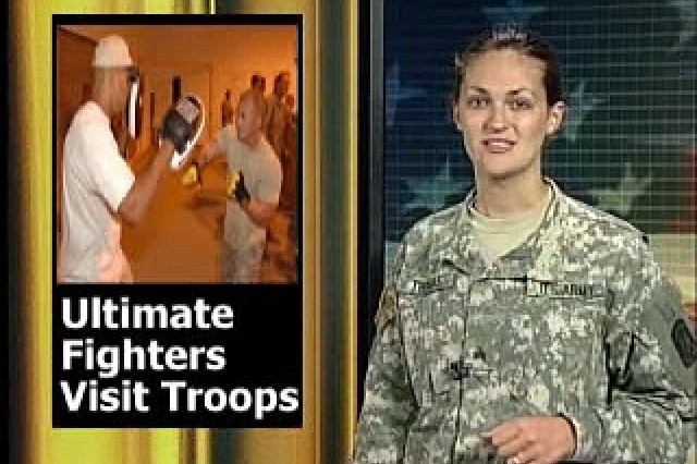 Ultimate Fighters Visit Troops.