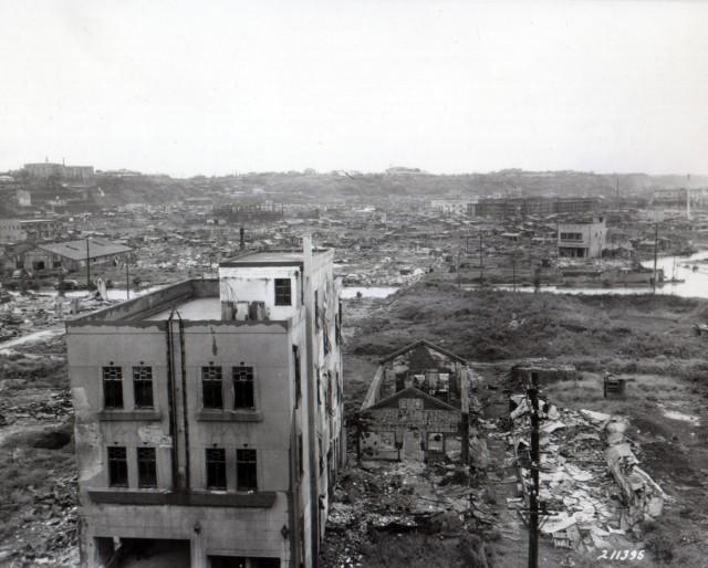 Firebombed Yokohama