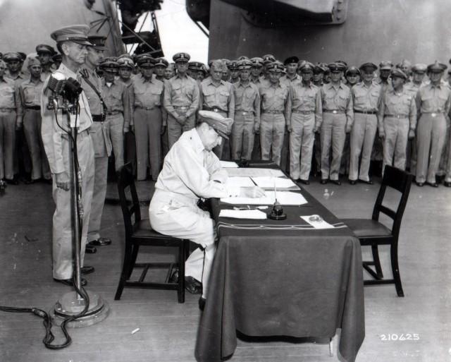 Surrender Ceremony - Signing