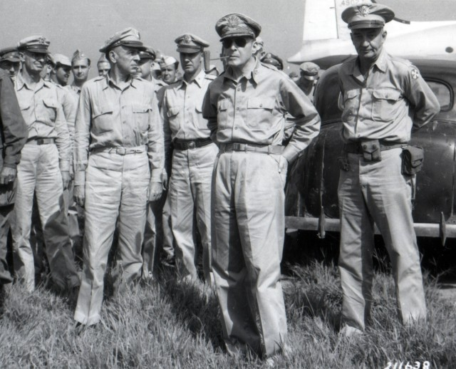 General MacArthur at Atsugi Airfield