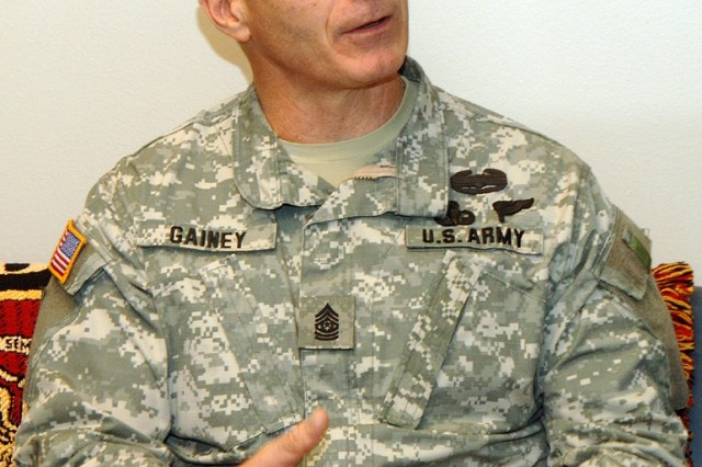 Sgt. Maj. William J. Gainey, 32-year Army veteran and senior enlisted advisor to the Joint Chiefs.