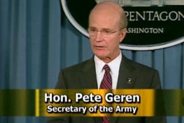 SecArmy Pete Geren.
