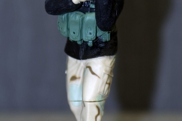 "This action figure represents Real Hero Sgt. Tommy Rieman, who is literally the face of America's Army's new ""True Soldiers"" for X-Box 360. The program is scheduled to release four action figures in Toys ""R"" Us stores by the end of August and two more later this year."