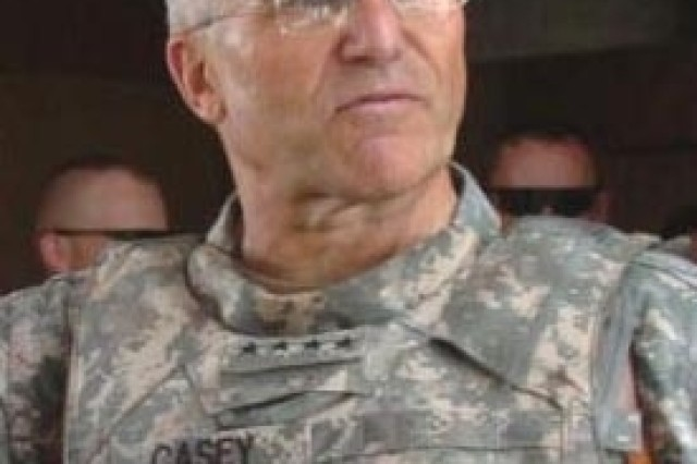 Chief of Staff of the Army Gen. George W. Casey Jr., during a visit with Soldiers in Afghanistan Aug. 12.