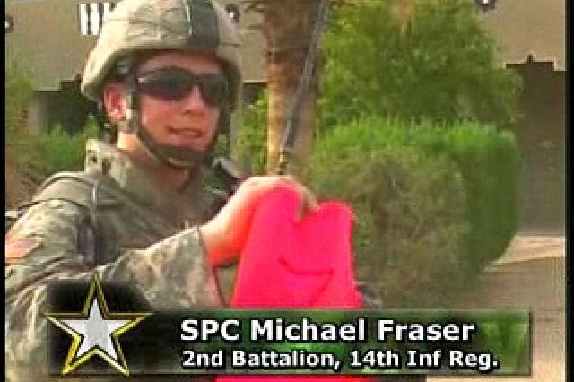 Spc. Michael Fraser, 2nd Battalion, 14th Inf. Reg.