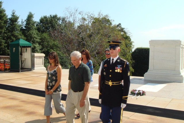 At the tomb of the unknown Soldier.