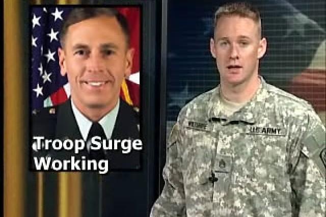 Gen. Petraeus: Troop surge is working.