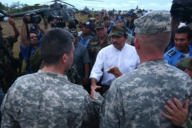 Soldiers Help in Nicaragua