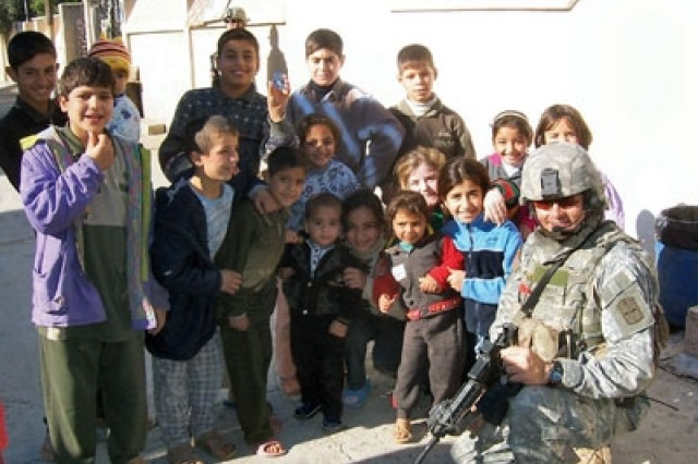 While distributing candy to Iraqi children, Sgt. 1st Class Johnny Kempen discovered 7-year-old Zahraa couldn't see properly. Kempen learned she'd had the problem since birth and previous medical treatment had little success.