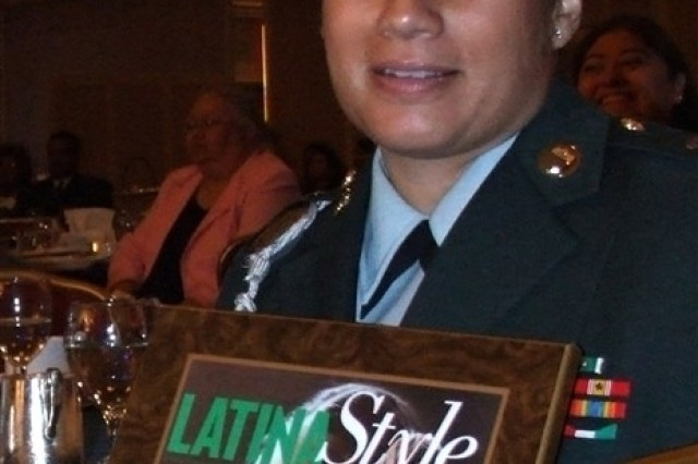 Sgt. Maj. Venus Carpenter is one of six Hispanic military women who were honored at Latina Style Magazine's annual awards luncheon held in Washington last Thursday.
