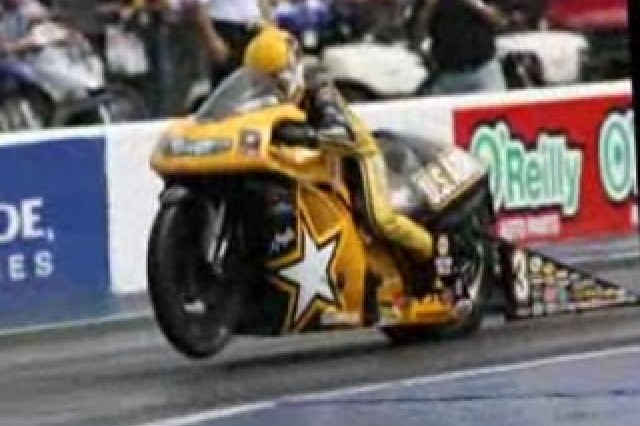 Angelle Sampey, a U.S. Army Pro-Stock racer.