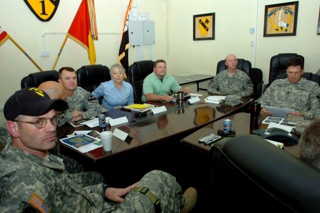 Under Secretary of Defense for Civilian Personnel Policy visits Ironhorse Brigade at Camp Taji