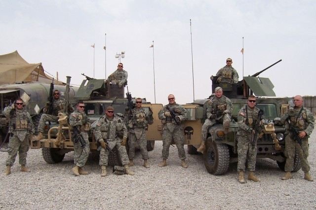 Members of Silver Star recipient, Staff Sgt. Chad Malmberg\'s unit, Company A, 2nd Battalion, 135th Infantry, while deployed in in Iraq.