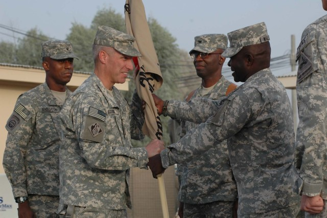 U.S. National Command Element (South) change of command held at Kandahar Airfield