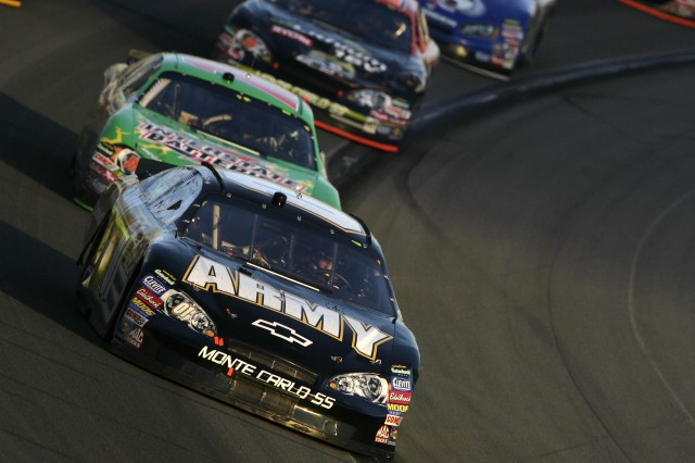 Mark Martin and the U.S. Army team posted a 12th-place finish in Sunday's Nextel Cup race at Kansas Speedway.