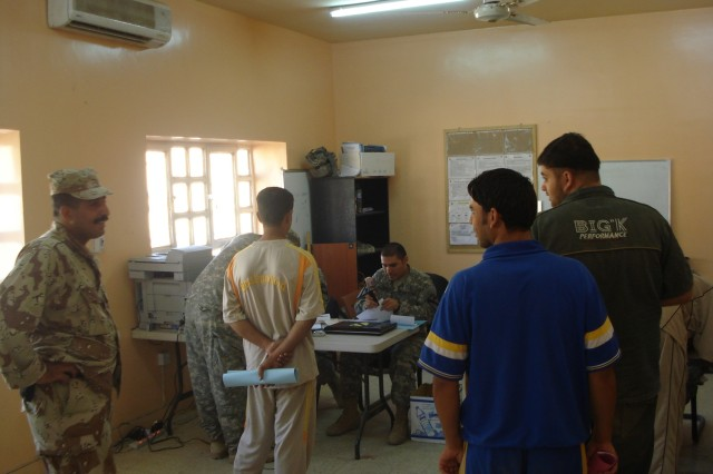 A recruiting drive resulted in more than 300 applicants for the new Ameriya Iraqi Police.