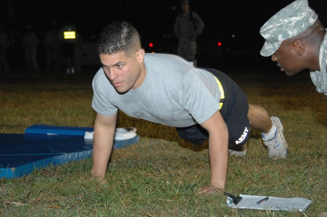 Soldier Faces Physical Test