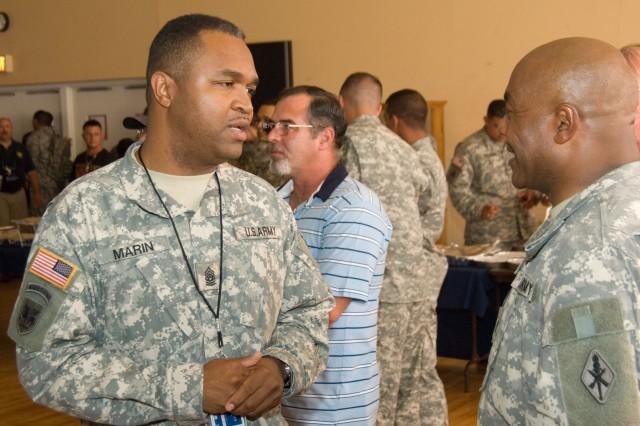 Sgt. Maj. Marin accepts reins