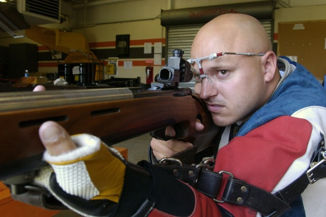 Sgt. Shane M. Barnhart, an international rifle shooter with the U.S. Army Marksmanship Unit from Fort Benning, Ga., has won three Conseil International du Sport Militaire medals.